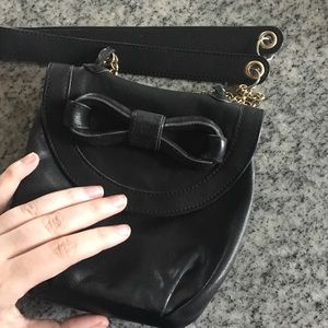 See by Chloe mini leather bag w/bow and chain